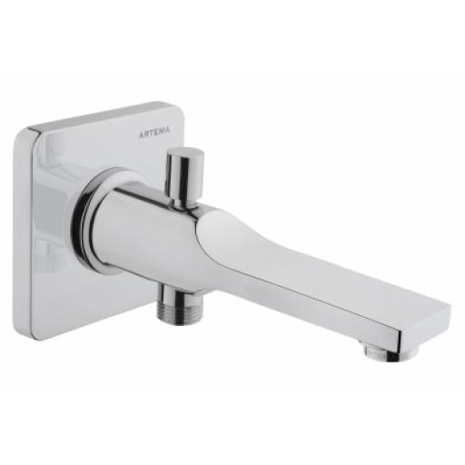 Vitra Suıt L Bath Spout, (With Handshower Outlet), Chrome