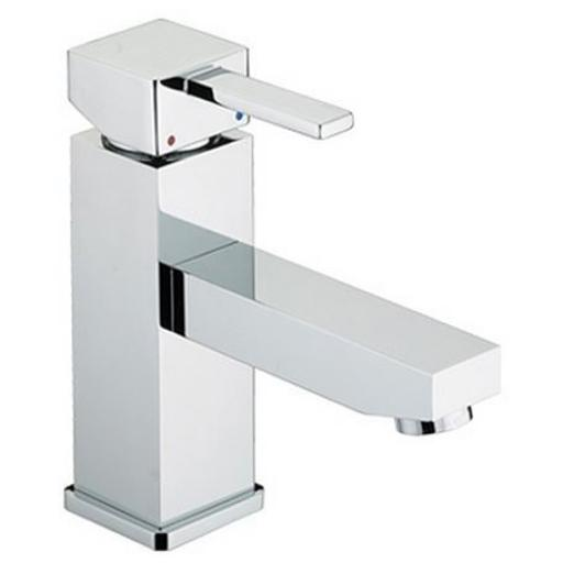 Bristan Quadrato Basin Mixer With Eco-Click (Without Waste)