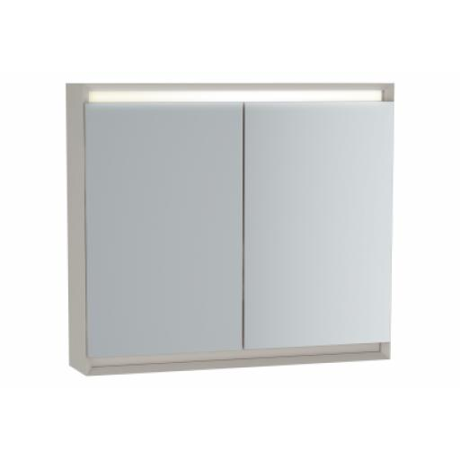 Vitra Frame Mirror Cabinet 80 cm, Matte Taupe