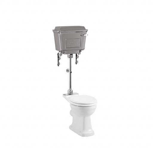 Burlington Standard medium level WC with 440 chrome lever cistern