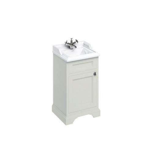 Burlington Freestanding 50cm basin unit with door - Sand