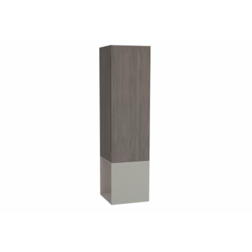 Vitra Frame Tall Unit, with Open Box, 40 cm, Matte Taupe, Right