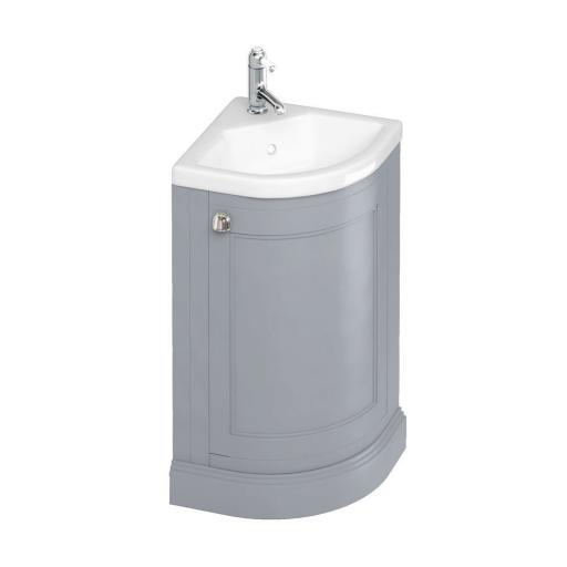 Burlington Freestanding 43cm Corner Vanity Unit - Classic Grey