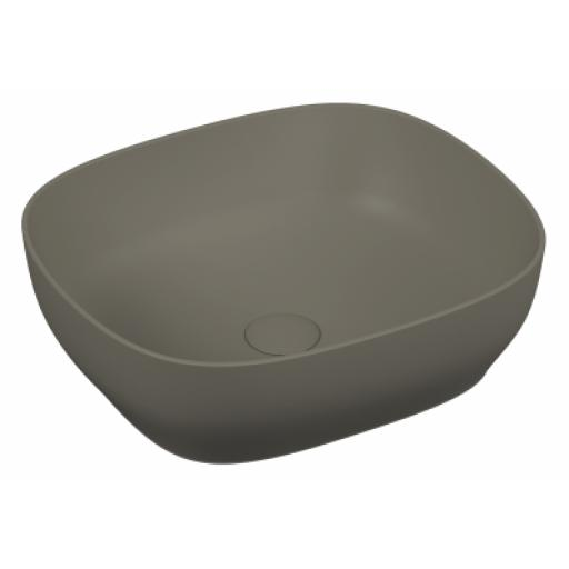 Vitra Outline Square Bowl Washbasin, Matte Mink