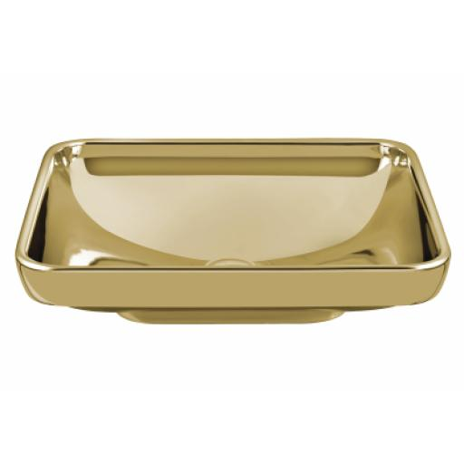 Vitra Water Jewels Rectangular Bowl, 60 cm, Gold