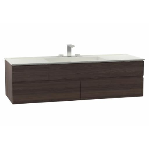 Vitra Memoria Washbasin Unit, Including Infinit Washbasin, 150 cm, Chestnut