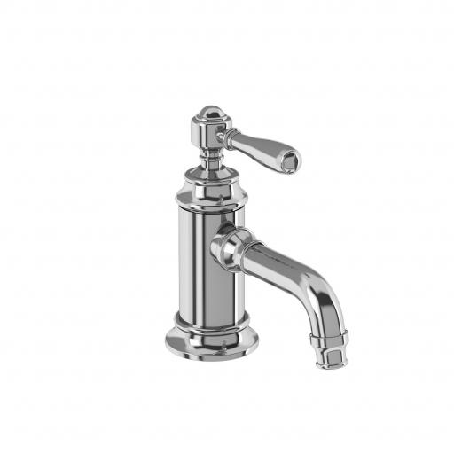 Burlington Arcade Single-lever basin mixer without pop up waste - chrome - with brass lever