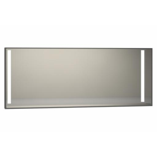 Vitra Memoria Illuminated Mirror, 150 cm, Grey High Gloss