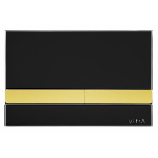 Vitra Select Mechanical Control Panel Glass Black with Gold