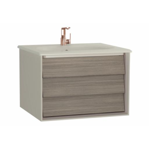 Vitra Frame Washbasin Unit, with 1 drawer, 60 cm, with taupe washbasin, Matte Taupe