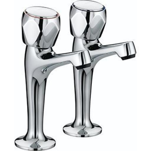 Bristan Club High Neck Pillar Taps
