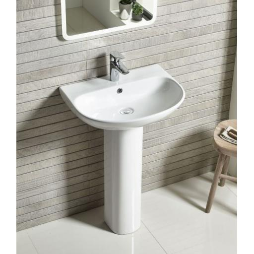 Tavistock Orbit 550mm Basin and Pedestal