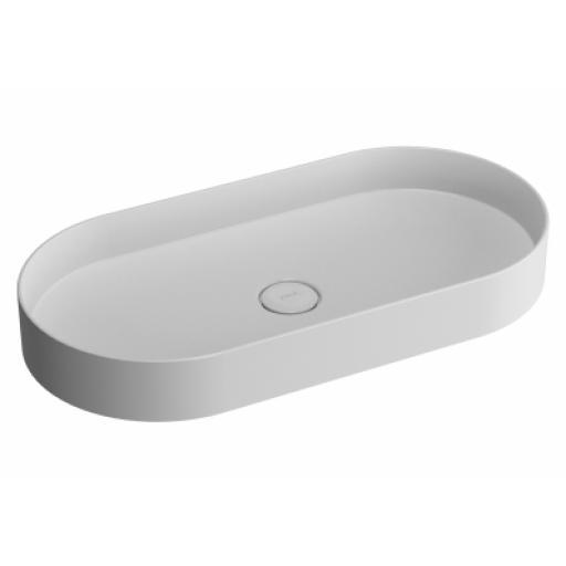Vitra Memoria Oval Countertop Basin 80 cm