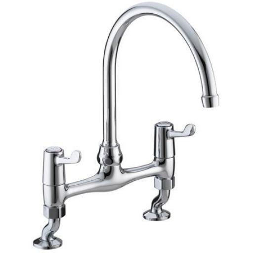 "Bristan Lever Bridge Sink Mixer With 6"" Levers"
