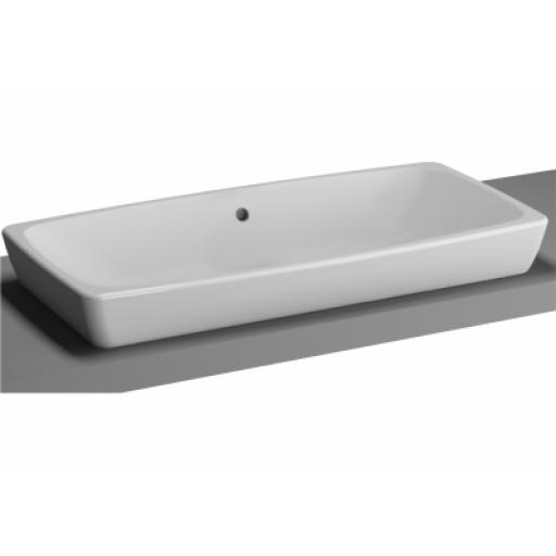 Vitra M-Line Countertop Washbasin, No Overflow Hole, 80 cm