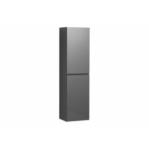 Vitra Memoria Tall Unit with Door, Metallic Grey, Right