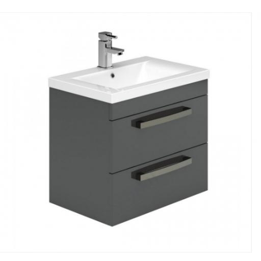 Nevada 600mm Wall Hung 2 Drawer Basin Unit