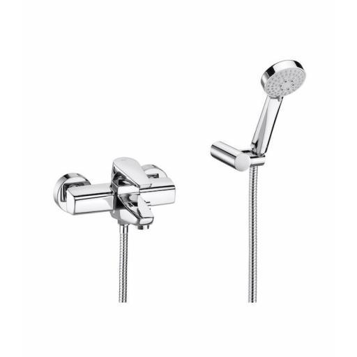 Roca Esmai Wall-Mounted Bath Shower Mixer + Kit
