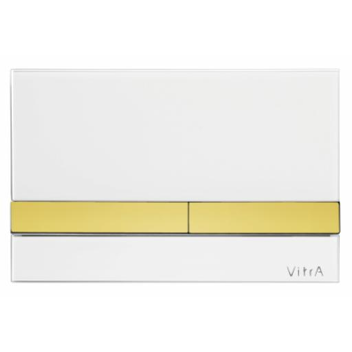 Vitra Select Mechanical Control Panel Glass White with Gold