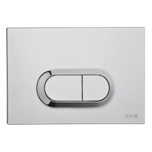 Vitra Loop O Mechanical Control Panel, Matt Chrome