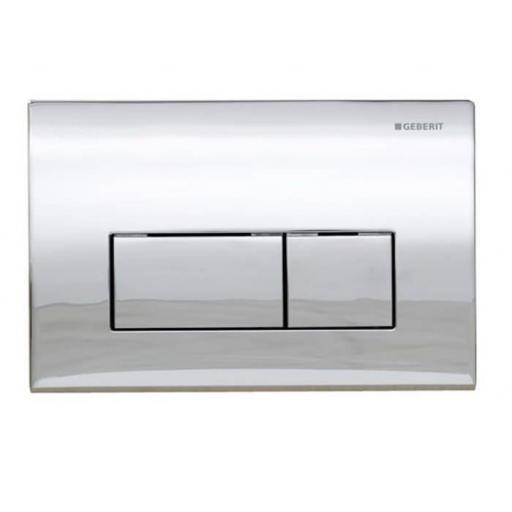 Geberit Kappa50 Dual Flush Plate - Gloss Chrome