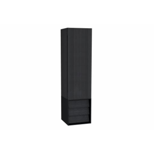 Vitra Frame Tall Unit, with Drawer Unit, 40 cm, Matte Black, Right