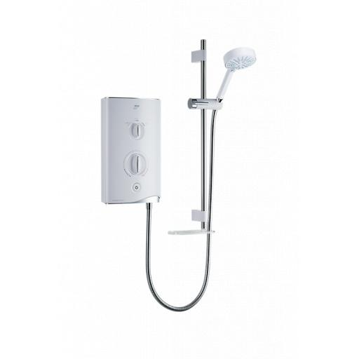 Mira Thermostatic Sport 9.8kW - White/Chrome
