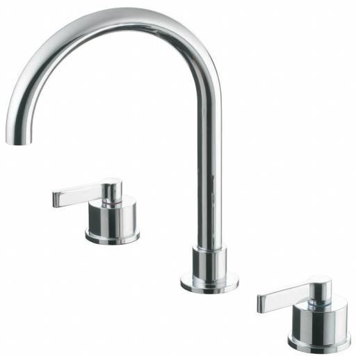 Ideal Standard Silver 3 Hole Basin Mixer