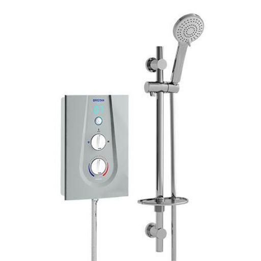Bristan Joy Thermostatic Electric Shower 9.5KW- Metallic Silver