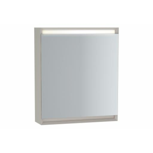 Vitra Frame Mirror Cabinet 60 cm, Matte Taupe, Left