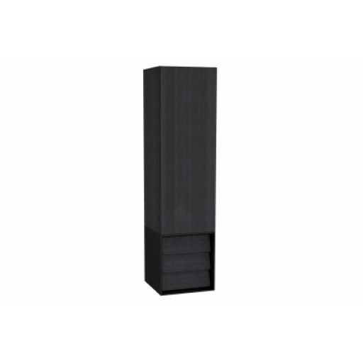 Vitra Frame Tall Unit, with Drawer Unit, 40 cm, Matte Black, Left