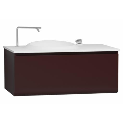 Vitra Istanbul Washbasin Unit, Including Infinit Washbasin, 100 cm, Burgundy