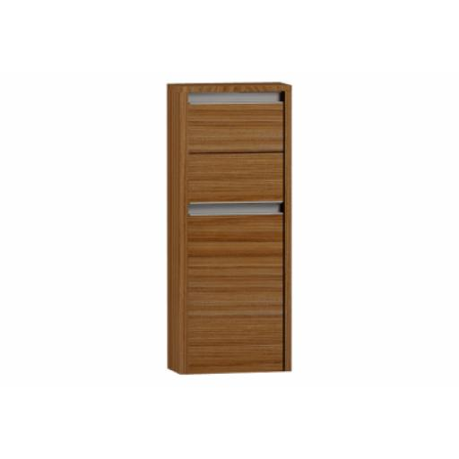 Vitra T4 Medium Unit with 1 Door, 2 Drawers, Left Hinge, 35 cm, Hacienda Brown