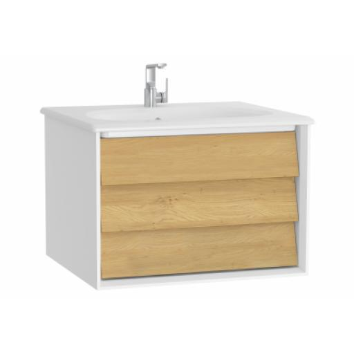 Vitra Frame Washbasin Unit, with 1 drawer, 60 cm, with white washbasin, Matte White