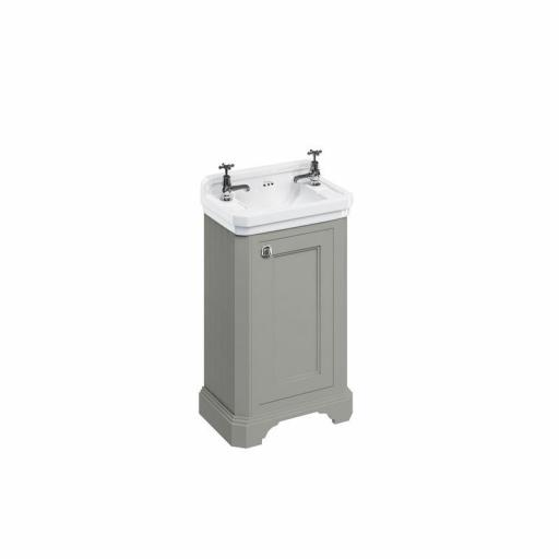 Burlington Cloakroom basin unit with door - Dark Olive