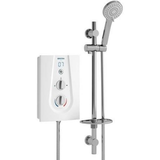 Bristan Joy Thermostatic Electric Shower 8.5KW- White