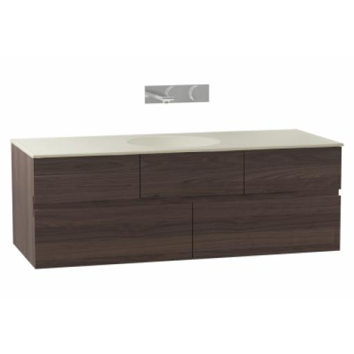 Vitra Memoria Washbasin Unit, Including Ceramic Washbasin, 120 cm, Chestnut