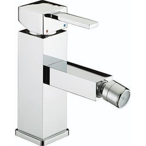 Bristan Quadrato Bidet Mixer With Pop Up Waste