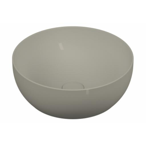 Vitra Outline Round Bowl Washbasin, Matte Taupe