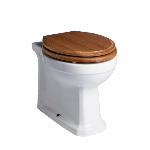 Tavistock Vitoria Back to Wall WC & Natural Oak Soft Close Seat