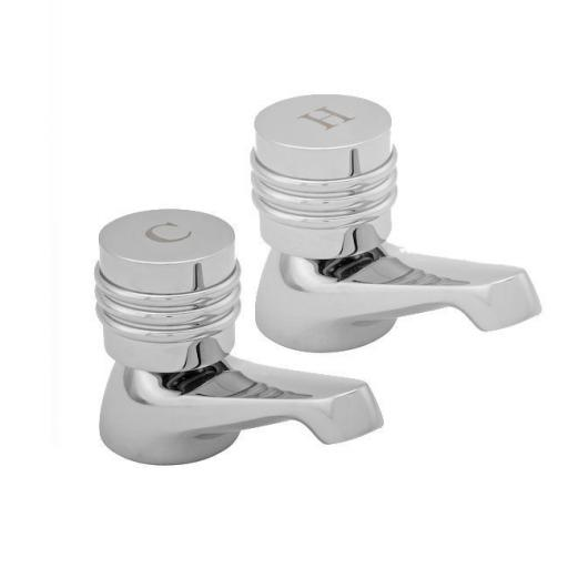 Roca Danube-N Basin Pillar Taps (Pair)