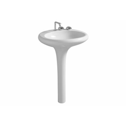 Vitra Istanbul Floor-Standing Washbasin, Flat, 60 cm, White