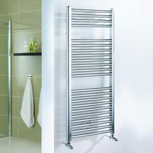 Straight Chrome Towel Radiator 690x600mm
