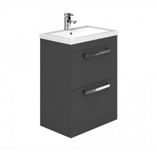 Nevada 600mm 2 Drawer Basin Unit