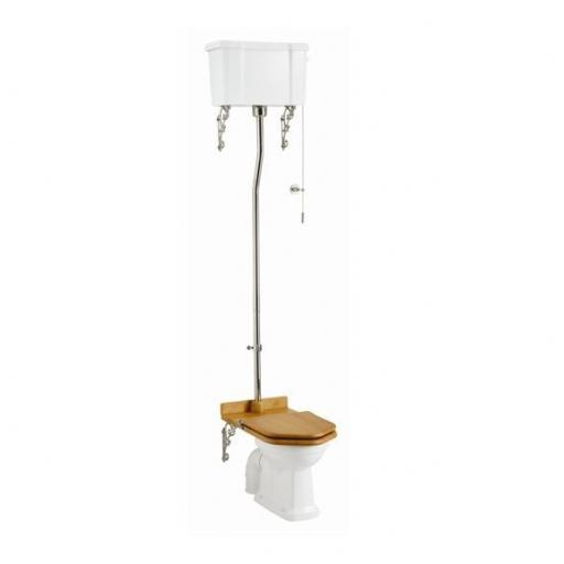 Burlington Standard high level WC with dual flush ceramic cistern