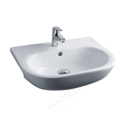 Lily 520mm Semi Recessed 1TH Basin