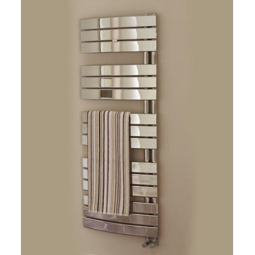 Aries 1080x550mm Chrome Towel Radiator