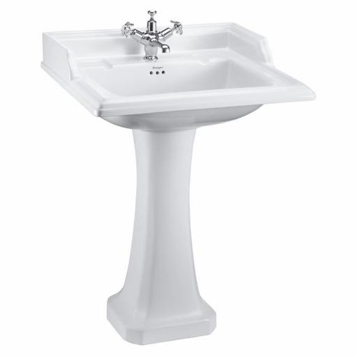 Burlington Classic 65cm Basin and Classic Pedestal