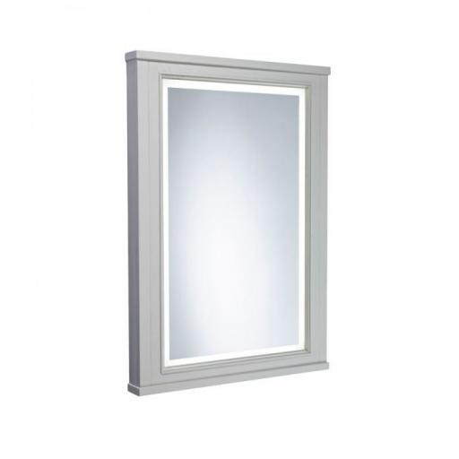 Tavistock Lansdown Illuminated Mirror - Pebble Grey