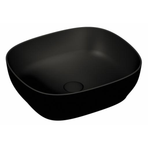 Vitra Outline Square Bowl Washbasin, Matte Black